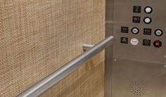 Chilewich used in Store Design in Elevator Wallcovering Panel Application #sisalcarpet.com #wallpaper