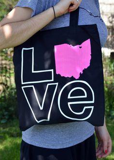 love cleveland tote bag. $18.00, via Etsy.