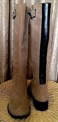 Women's BORN CROWN Brown Suede Leather Knee High Boots Shoes Sz. 6.5