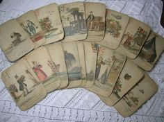 antique tarot cards - this is what I imagined Katie Jenkins' set to look like.