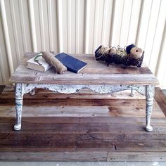 RUSTIC FARMHOUSE COFFEE TABLE by @theoldandtheelegant planked in reclaimed weathered cedar on a uniquely designed hardwood frame built in… Table, Architectural Salvage, Farmhouse Style Furniture, Furniture, Home Decor, Hardwood Frame, Rustic Farmhouse, Coffee Table, Coffee Table Farmhouse