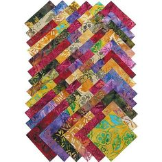 Patterns-Batik fabrics as decoration on tables.