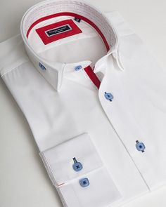 White double collar shirt by Franck Michel
