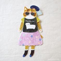 ai. Aiko Fukawa Dress-Up Cat Card