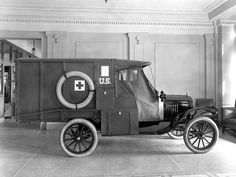 An example of a 1917 Ford  Model T Army ambulance, Courtesy of Ford Motor Company / The Henry Ford.