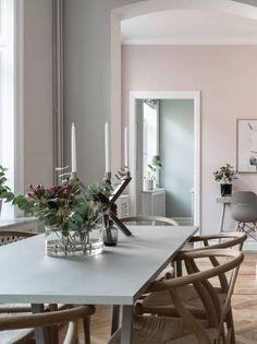 Home in pastel tints - via Coco Lapine Design blog