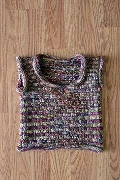 Free knitting pattern for babies and toddlers - the Over and Out Vest in Infusion Handpaints I love this