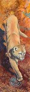 """Puma by Nancee Jean Busse Acrylic ~ 18"""" x 6"""""""