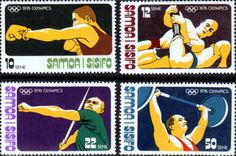 Samoa 1976 Olympic games Montreal Set Fine Mint SG MS 465 8 Scott 433 6 Other Samoan Stamps Here