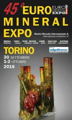 45° Mineral Expo, a Torino la meravigliosa fiera di minerali il 30 ottobre 1 e 2 settembre 2016