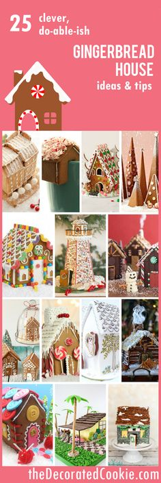 25 Gingerbread House ideas and tips ~ The Decorated Cookie