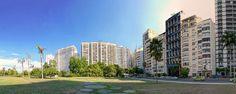 Pracinha do Índio com belos edifícios residenciais no bairro do Flamengo, Rio de Janeiro, Brasil. :-)
