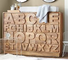 ABC Dresser from Pottery Barn Kids.