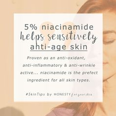 Anti-ageing ingredients can hurt your skin - especially if you have a sensitive skin type. But dear friend, all is not lost, you can have your cake and eat it, niacinamide is a must know for anyone wanting to take extra special anti-ageing care of their skin. Click the #SkinTip to learn more.