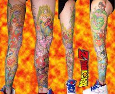 super_leg_dragon_ball_tattoo_z_warriors_full