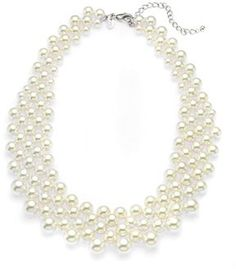 Marks and Spencer Faux Pearl Collar Necklace