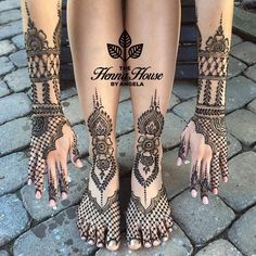 Colorful Bridal Henna on Hands