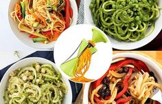 4 in 1 New Generation Vege Spiralizer This is stainless steel and combination of plastic, with an attractive colour, works extremely nice and fine 4 In 1, The 4, 1 News, Home And Living, Kitchen Dining, Spaghetti, Ethnic Recipes, Food, Essen
