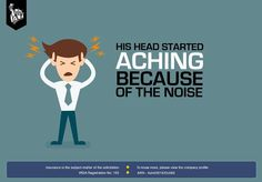 """Is that loud thumping in my head or is it the """"new sick beat"""" that you are dropping? Oh wait its both. Your beats are syncing with my headache 'Brah!' Turn down because #noiseannoys"""