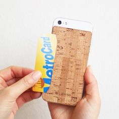 Cork Skin iPhone 5 Card Pocket – $10