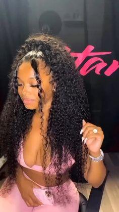 Baddie Hairstyles, Cute Hairstyles, Black Girl Curly Hairstyles, Weave Hairstyles, Hair Ponytail Styles, Birthday Hairstyles, Natural Hair Styles, Curly Hair Styles, Hair Laid