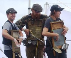 Washboard (Instrument): Washboard players from Portland's Sasparilla and Conjugal Visitors play at Pickathon Roots Music Festival