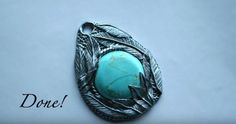And your pendant's done! | DIY Jewelry | Silver and Turquoise Feather Pendant That Will Make You Dazzle and Stand Out
