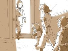 People should never dismiss the role of mother and homemaker. Nothing is as comforting as coming home to Mum. I love this picture of coming home. Chi-chi works hard, and I think she's just as devoted to her goals and Goku is to his.