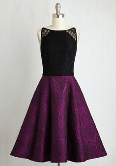 Goodness Graceful Dress - Pink, Black, Special Occasion, Party, Cocktail, Twofer, Fit & Flare, Sleeveless, Woven, Best, Long