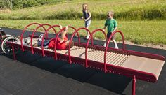 Not just fast and fun, the Sensory Play Roller Table™ provides kids much needed sensory stimulation, through the application of deep-muscle pressure, from the steel rollers. Kids Indoor Playground, Park Playground, Playground Design, Playground Ideas, Children Playground, Natural Playground, Sensory Garden, Sensory Play, Play Spaces