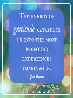 Experience and Express gratitude and see what happens.  You won't be disappointed.  Visit us at: www. GratitudeHabitat.com  #gratitude #go-gratitude #gratitude-habitat