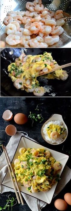 Stir Fry Shrimp and Eggs, 蝦仁炒蛋
