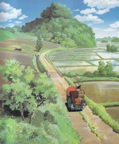 Art of My Neighbor Totoro Studio Ghibli Art, Studio Ghibli Movies, Studio Ghibli Background, Background Drawing, Japanese Countryside, Anime City, Japon Illustration, My Neighbor Totoro, Hayao Miyazaki