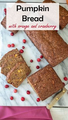 Don't do plain old pumpkin bread! This orange, cranberry, and pumpkin quick bread from Binky's Culinary Carnival is bursting with flavor for any breakfast or snack. Grab this simple recipe that you will want to make again and again for your family. #quickbread #bread #pumpkin #pumpkinbread #holidayrecipes #easyrecipes Best Christmas Recipes, Holiday Recipes, Holiday Foods, Mexican Dessert Recipes, Pastry Recipes, Bread Recipes, Baking Recipes, Bread And Pastries, Pumpkin Bread