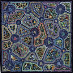140 x 140 cm scarf Hermès   Chemins Secrets Turquoise Rose, Hermes  Bracelet, Hermes 43c64a40ce2