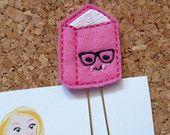 Felt Book Bookmark | Pink Book Paper Clip | Refrigerator Magnet | Cute Brooch Pin |Organizer | Calendar | Planner Accessory | Filofax | 259