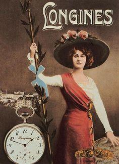 Jugendstil Werbeplakat Longines by dietherpetter, via Flickr