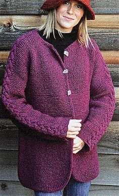 Hand-To-Hand Cardigan, Adult by Elizabeth Zimmermann. pattern avail from Amazon