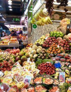 Fruit market La Boqueria- Barcelona - Spain