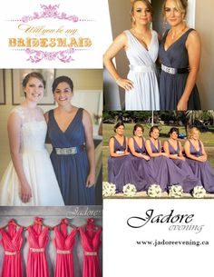 265a8dd8ba0c Jadore style #J3040 featured in a variety of colours. Great for #Bridesmaid  #MaidofHonor! WWW.JADOREEVENING.CA