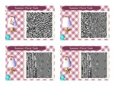Animal Crossing: New Leaf- Summer Floral Tank QR Code.