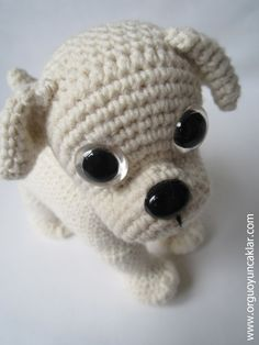 Amigurumi Bulldog Pattern by Denizmum on Etsy Crochet Dolls, Knit Crochet, Crochet With Cotton Yarn, Crochet Patron, Bazaar Crafts, Cat Pattern, Free Pattern, Beautiful Crochet, Crochet Animals
