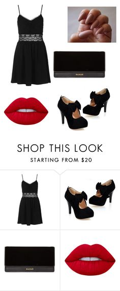 """Untitled #131"" by dariana-stoiu on Polyvore featuring Topshop, Balmain and Lime Crime"