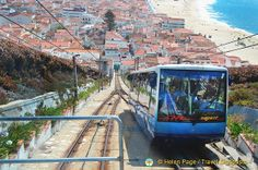 Nazare's funicular is 125 years old. Catch the funicular to Sitio where you'll get the best views of Nazare. Portugal Travel, Spain And Portugal, Portugal Places To Visit, Las Azores, Southern Europe, Seaside Towns, World Cities, Douro, Europe Destinations