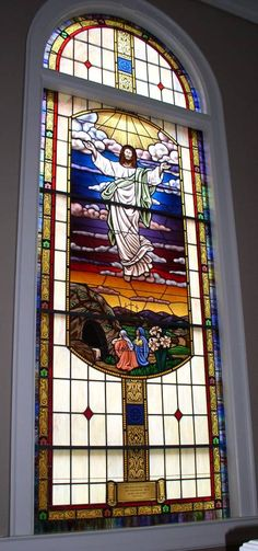 Stained Glass Windows at First Baptist Church in Tallapoosa, GA