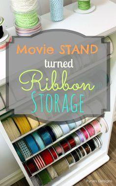 Daring DIY: Ribbon Rack Storage {Fynes Designs}