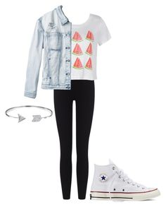 """Untitled #3"" by peanutbutter-n-nutella on Polyvore featuring James Perse, Ally Fashion, RVCA, Converse and Bling Jewelry"