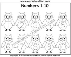 Halloween Themed Worksheet – Owl – Number Tracing – – One Worksheet / FREE Printable Worksheets – Worksheetfun Letter Tracing Worksheets, Printable Preschool Worksheets, Free Kindergarten Worksheets, Math Worksheets, Printables, Tracing Shapes, Number Tracing, Halloween Letters, Halloween Themes