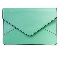 ASMARA Envelope shoulder bag in Mint Green (£165) ❤ liked on Polyvore featuring bags, handbags, clutches, purses, bolsas, fillers, mint green purse, green handbag, hand bags and mint purse