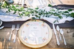 Who said a table cloth was mandatory? Here, the delicate fabrics pair with the roughness of the wood to create the perfect rustic table. - Styling by Sparks Weddings Rustic Table, Table Settings, Delicate, Fabrics, Table Decorations, Weddings, Create, Wood, Design